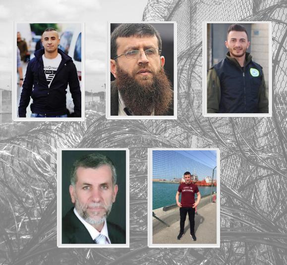 5 أسرى يواصلون إضرابهم المفتوح عن الطعام احتجاجا على اعتقالهم الإداري