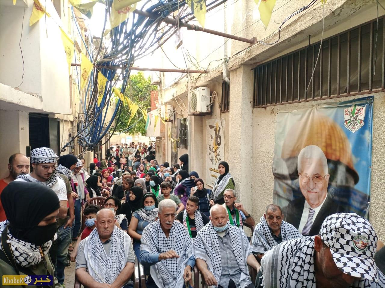 هكذا تابع اللاجئون الفلسطينيون في مخيم برج البراجنة بلبنان خطاب الرئيس محمود عباس في الأمم المتحدة