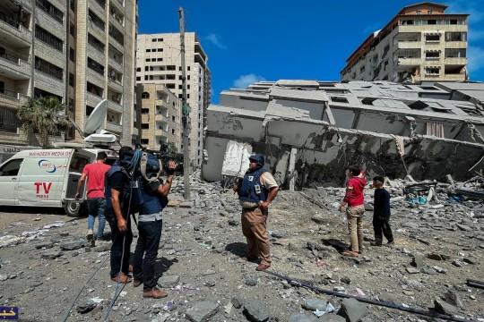 بالصور.. آثارالدمار الذي خلفه الاحتلال جراء القصف المتواصل على غزة