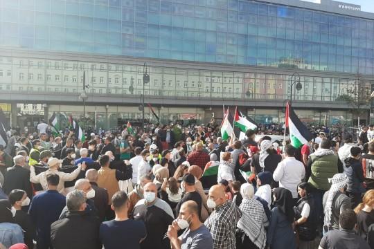 برلين: آلاف يشاركون في وقفة احتجاجا على اجراءات الاحتلال في القدس
