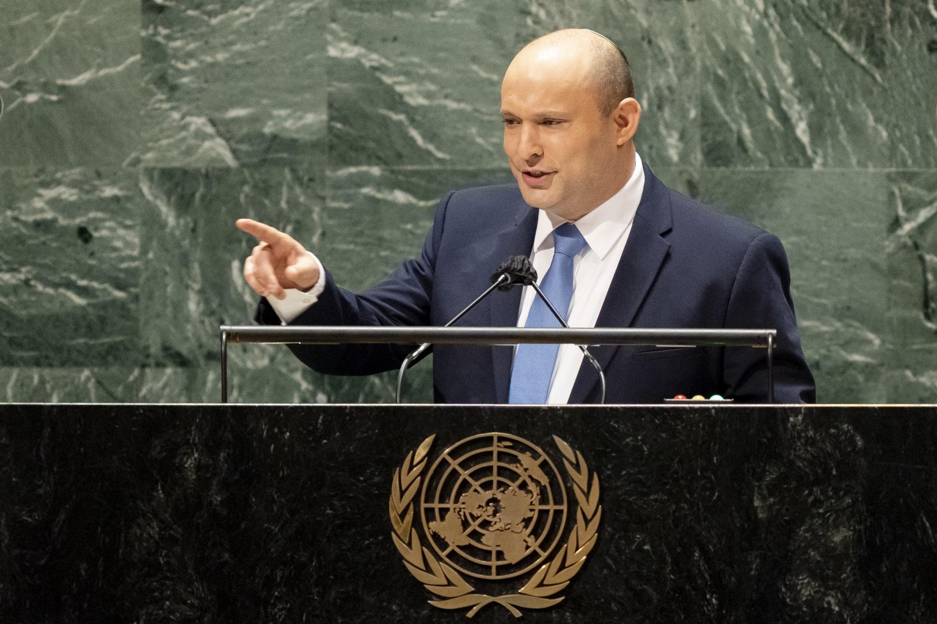 بينيت سجّل فشليْن في خطابه الأول أمام الأمم المتحدة