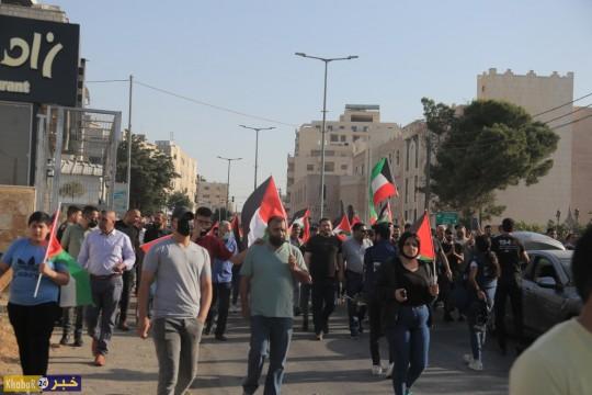 وقفة ومسيرة تضامن ومواجهات مع قوات الاحتلال في بيت لحم الخميس 20/5/2021