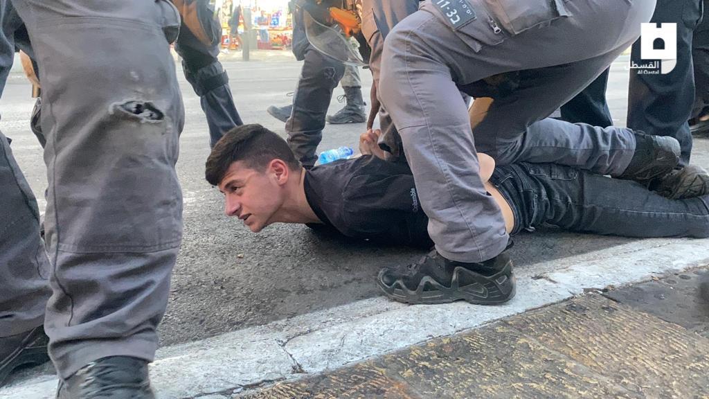 15 اصابة خلال اعتداء قوات الاحتلال الوحشي على المواطنين في باب العامود بالقدس