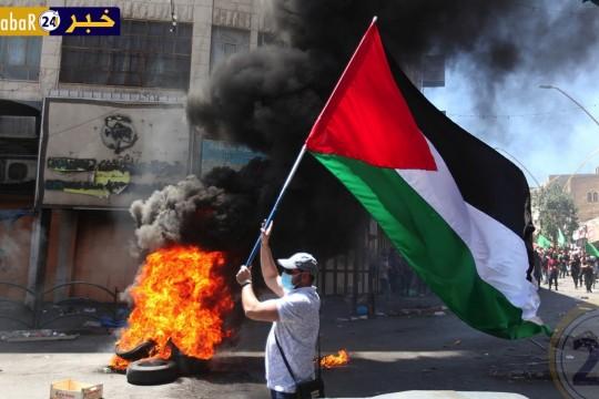 صور - من المسيرات والمواجهات في مدينة الخليل