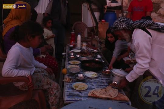 اجواء الافطار في خربة الرضيم الصامدة بوجه الاحتلال