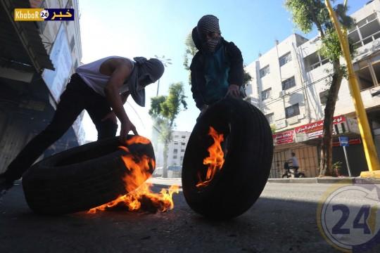 صور من المواجهات في مدينة الخليل