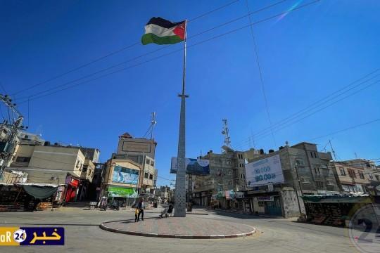 غزة: صور من تطبيق حظر حركة المركبات  يومي الجمعة والسبت