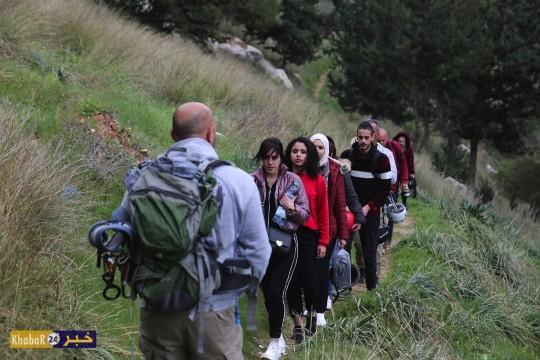 """فريق """"رحال فلسطين"""" يجري إنزالاً وسط محمية """"واد القف"""" شمال الخليل لاستكشاف الطبيعة"""