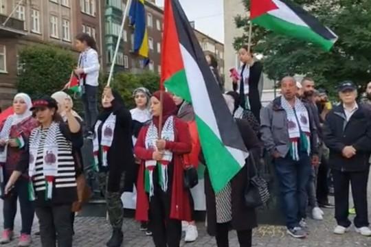 تظاهرة في السويد مساندة للأسرى الفلسطينيين في سجون الاحتلال