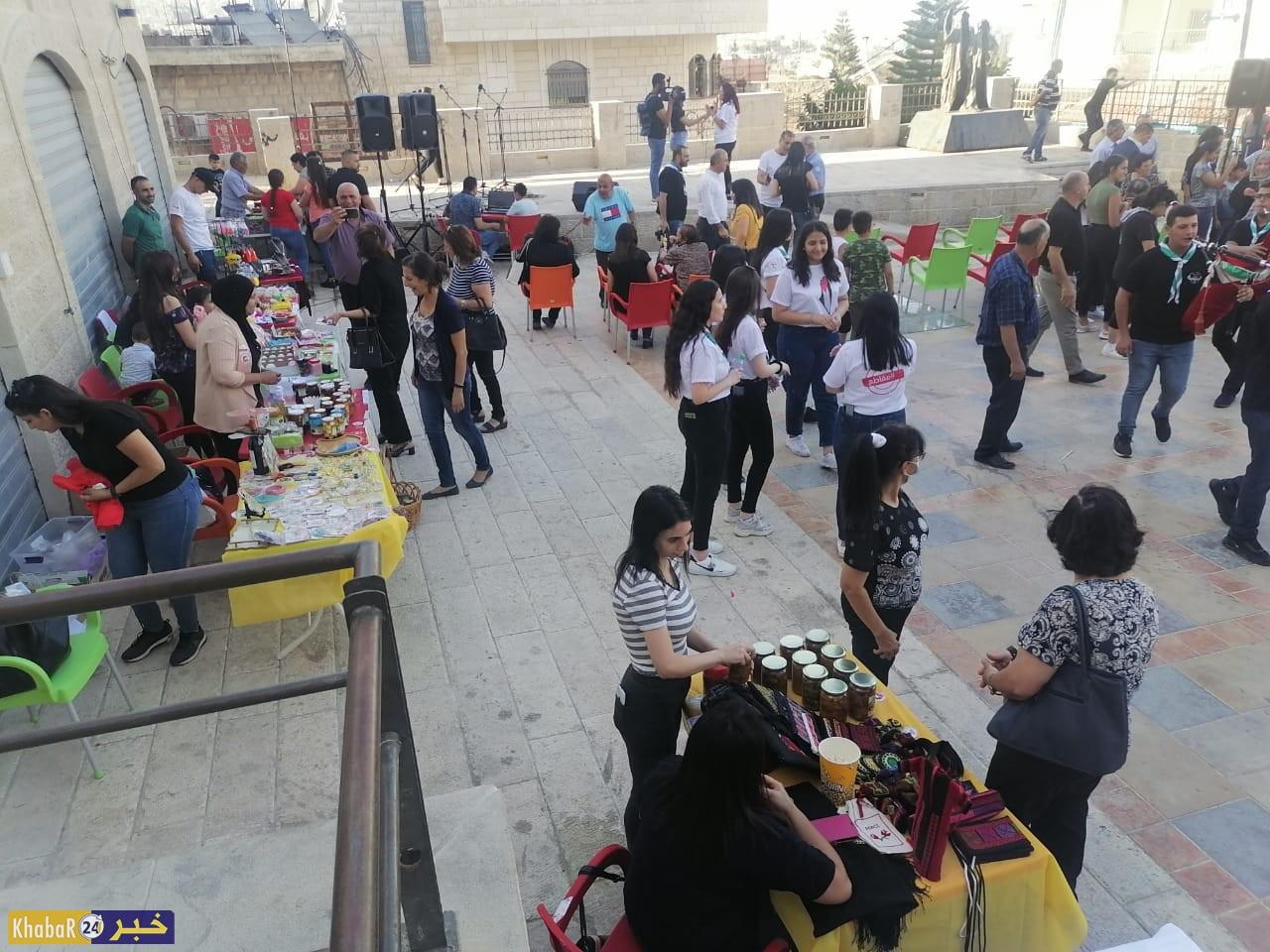 """افتتاح """"بازار السوق الشعبي الساحوري"""""""