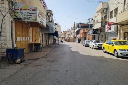 تشديد اجراءات الاغلاق في محافظة طولكرم