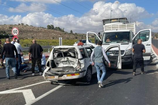 """الخليل: إصابات في حادث سير على مدخل مستوطنة كريات أربع"""""""