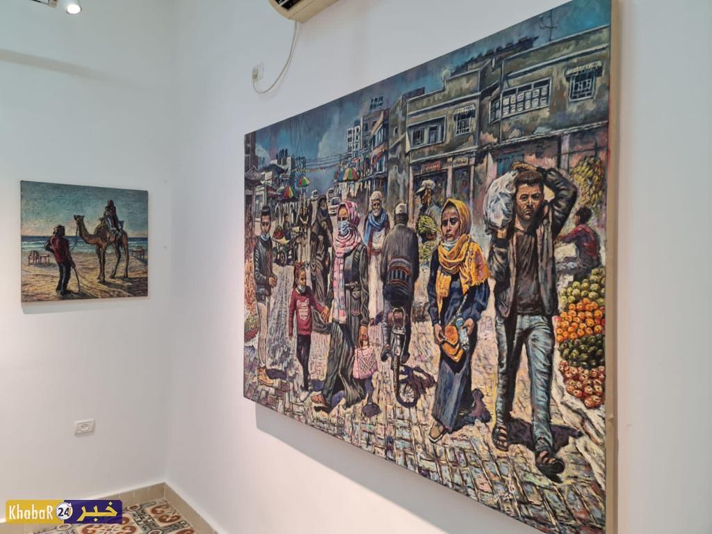 """""""ملاذ الفن"""".. معرض يضم إبداعات أربعة فنانين في غزة"""