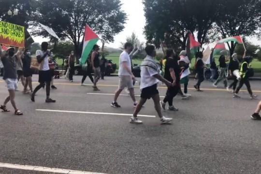 تظاهرة أمام البيت الأبيض تنديدا بزيارة بينيت