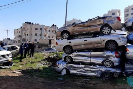 الشرطة تضبط 15 مركبة غير قانونية وتلقي القبض على مطلوب في محافظة بيت لحم
