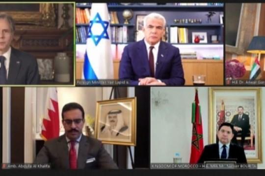 بلينكن يجتمع بنظرائه الإسرائيلي والإماراتي والبحريني والمغربي