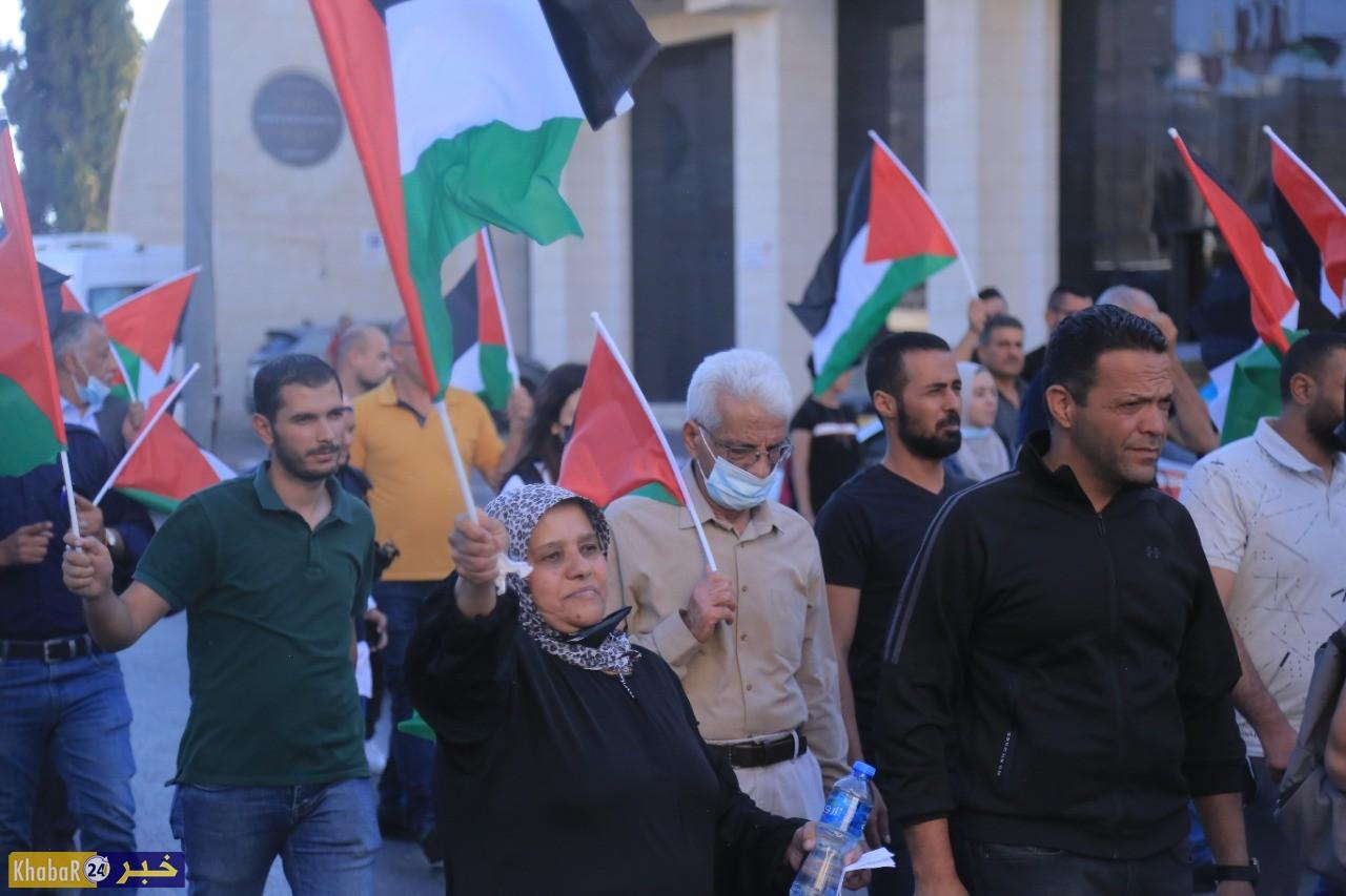 بالصور- 10 اصابات جراء قمع الاحتلال مسيرة شمال بيت لحم