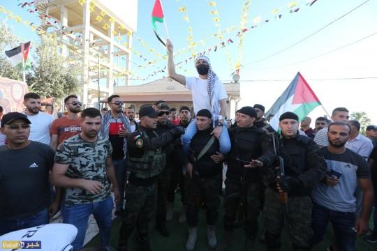 فتح تنظم مهرجان استقبال للاسير المحرر الغضنفر ابو عطوان في قرية الطبقة جنوب غرب الخليل