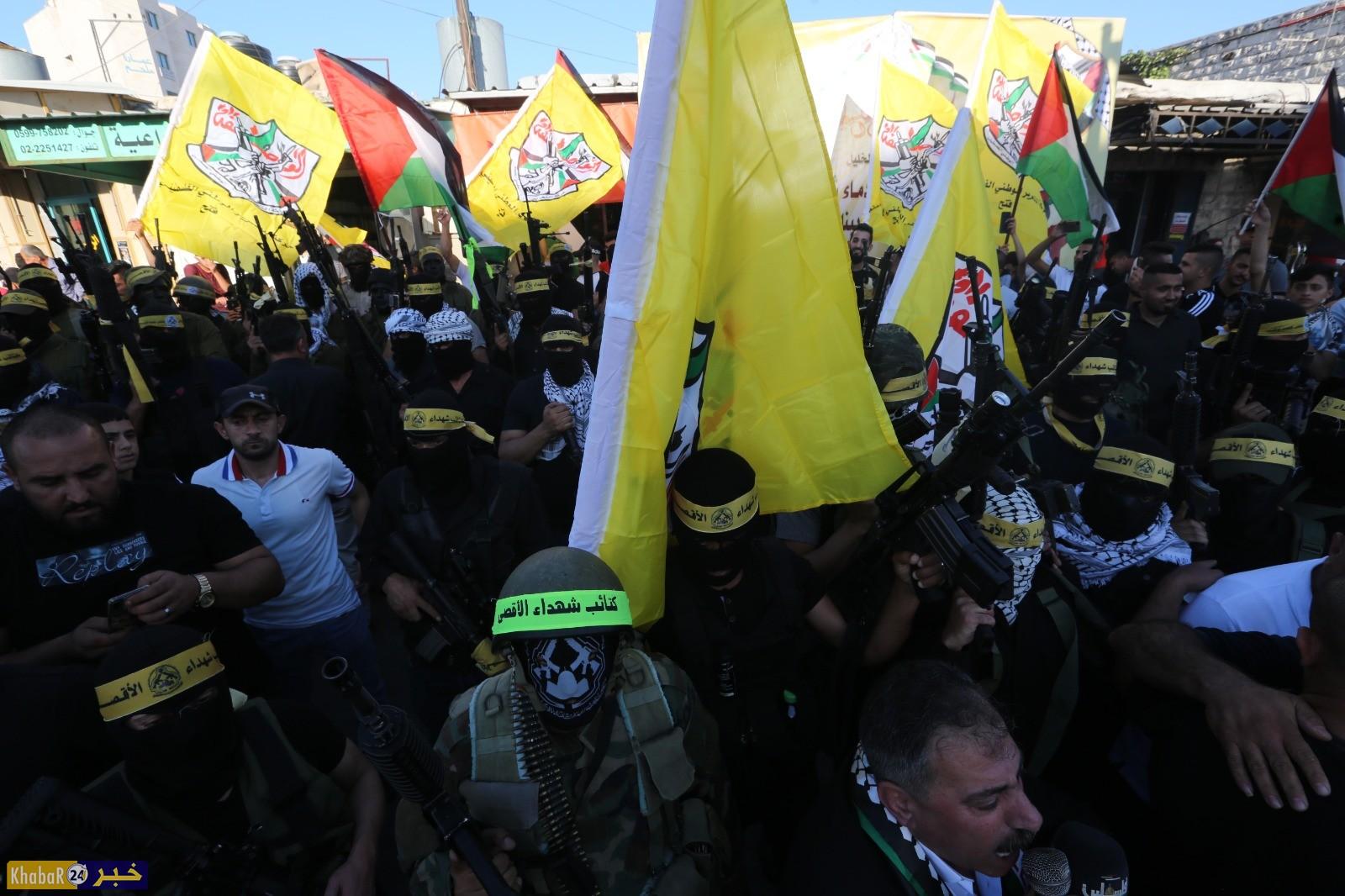 """""""فتح"""" تنظم مسيرة دعم للرئيس واسناد للقدس والشرعية الفلسطينية في حلحول شمال الخليل"""
