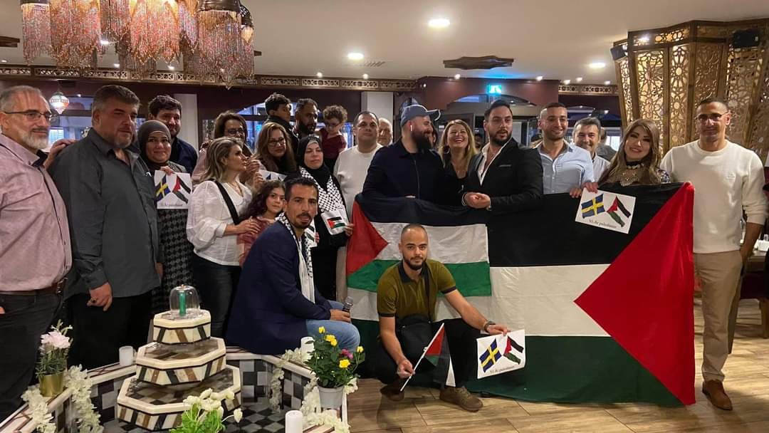 لقاء يجمع أبناء الجاليات الفلسطينية والعربية في مدينة مالمو بالسويد
