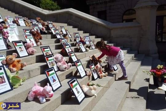 معرض صور لشهداء العدوان الإسرائيلي الأخير على قطاع غزةفي السويد