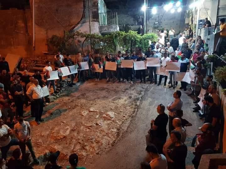 وقفة في بلدة يعبد جنوب جنين للمطالبة بحرية الأسير الجريح أبو بكر