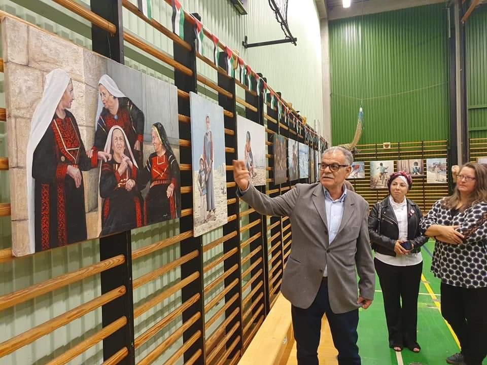 معرض فني في العاصمة الدنماركية للفنان التشكيلي الفلسطيني مأمون الشايب