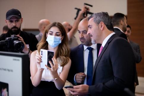 اطلاق هاتفي Z Fold 3 و Z Flip 3 خلال حفل نظمته شركة سامسونج في رام الله