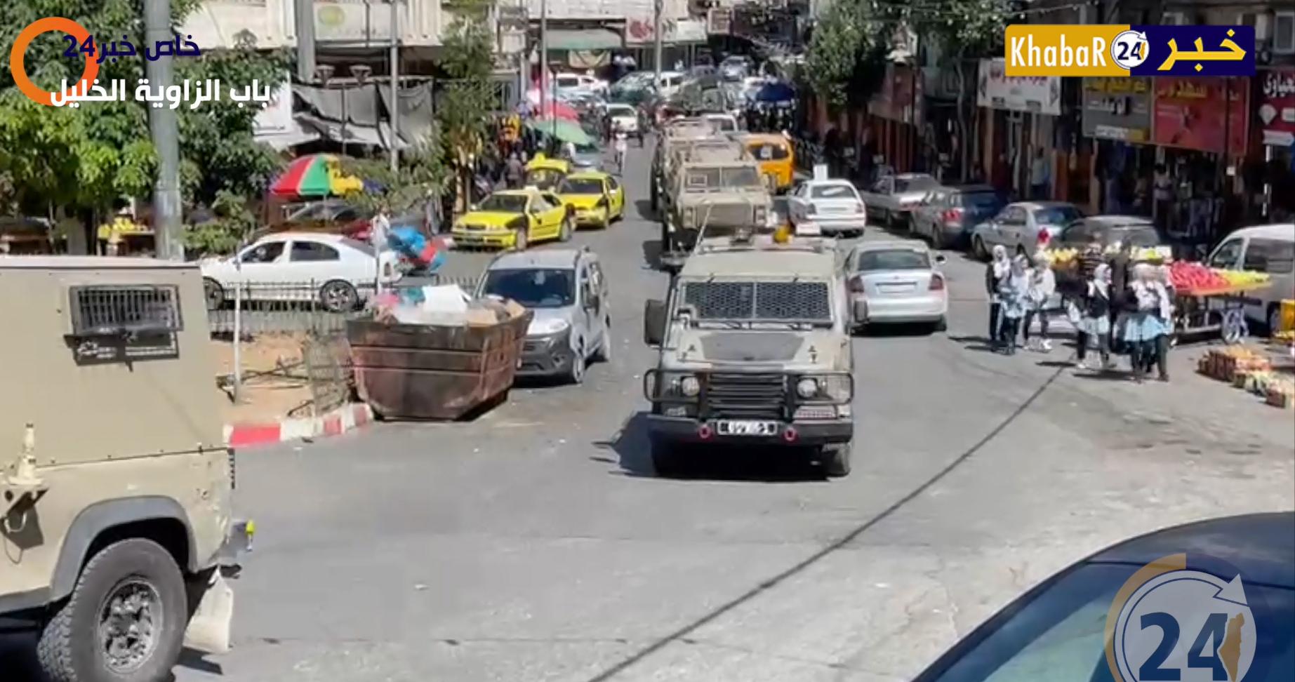جيش الاحتلال يقتحم باب الزاوية وسط مدينة الخليل تمهيداً لخروج المستوطنين